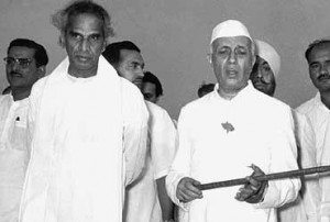 Nehru with VK Krishna Menon